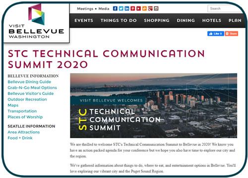 screen capture of STC Summit Bellevue microsite